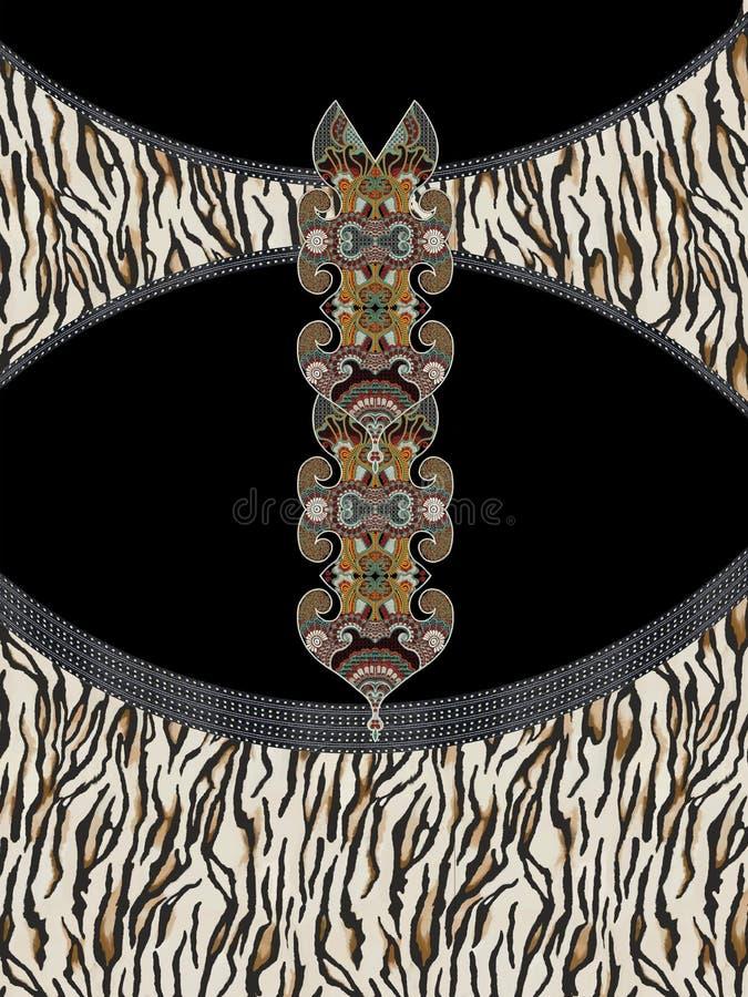 Het geometrische ontwerp van de kleuren dierlijke druk stock foto