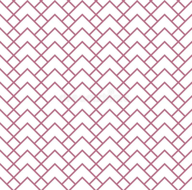 Het geometrische patroon met strepen Naadloze vectorachtergrond Textuur grafisch modern patroon vector illustratie