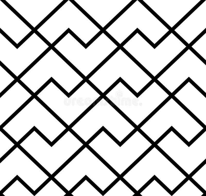 Het geometrische patroon met strepen Naadloze vectorachtergrond Textuur grafisch modern patroon royalty-vrije illustratie