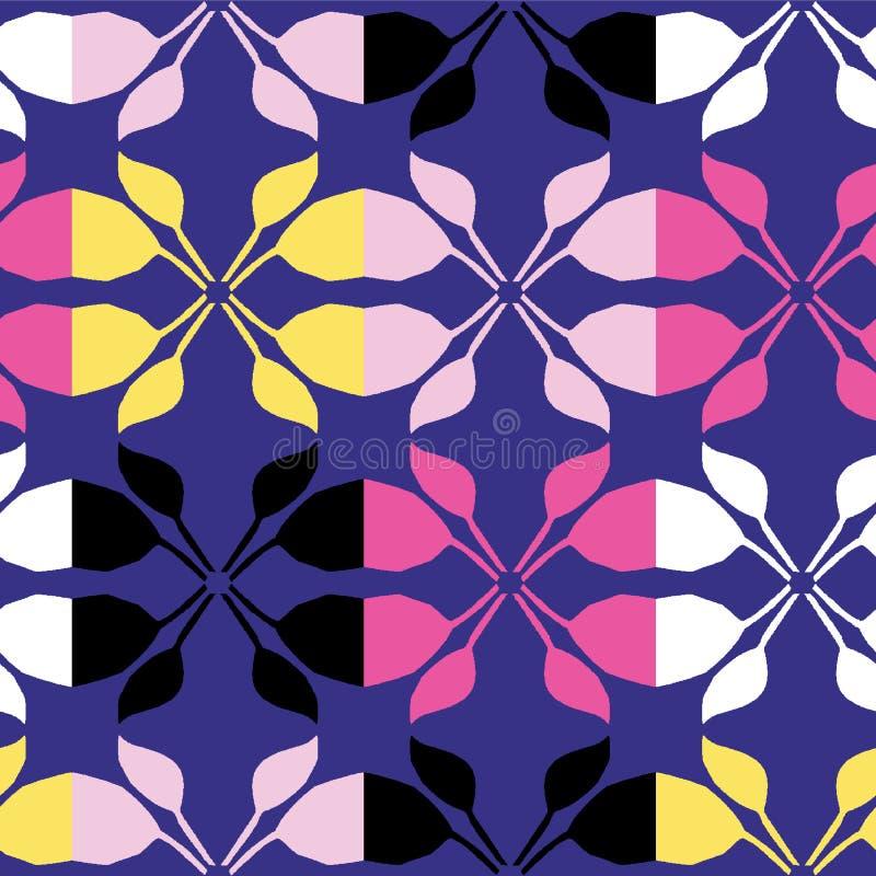 Het geometrische retro bladvierkant geeft naadloos patroon gestalte Overal druk vectorachtergrond De mooie manier van het het dek vector illustratie