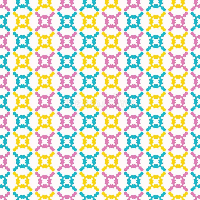 Het geometrische retro naadloze patroon van de geovorm Overal druk vectorachtergrond Mooie van de het kanttegel van de zomerjaren royalty-vrije stock fotografie