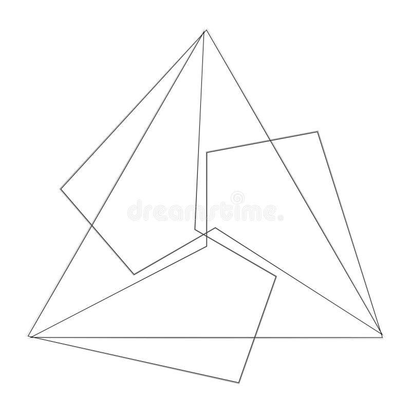 Het geometrische symbool van de de sterastrologie van het patroonpictogram pentagram vector illustratie