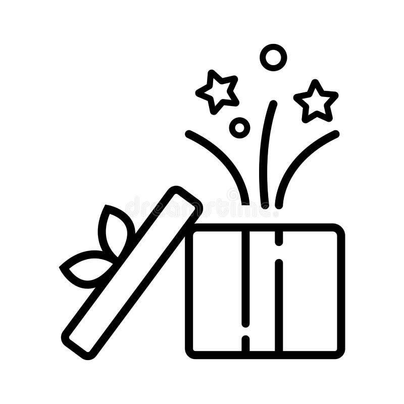 Het geopende pictogram van de giftdoos royalty-vrije illustratie