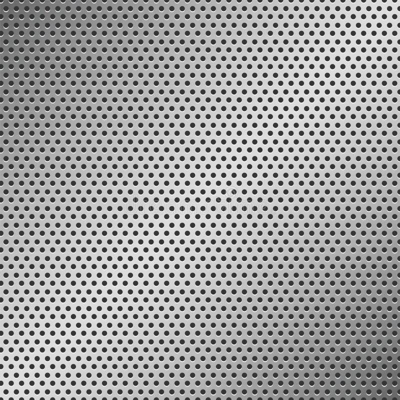 Het geperforeerde Patroon van het Metaal stock illustratie