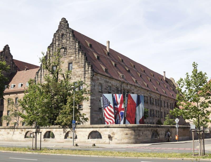 Het gerechtsgebouw in Nuremberg royalty-vrije stock afbeelding