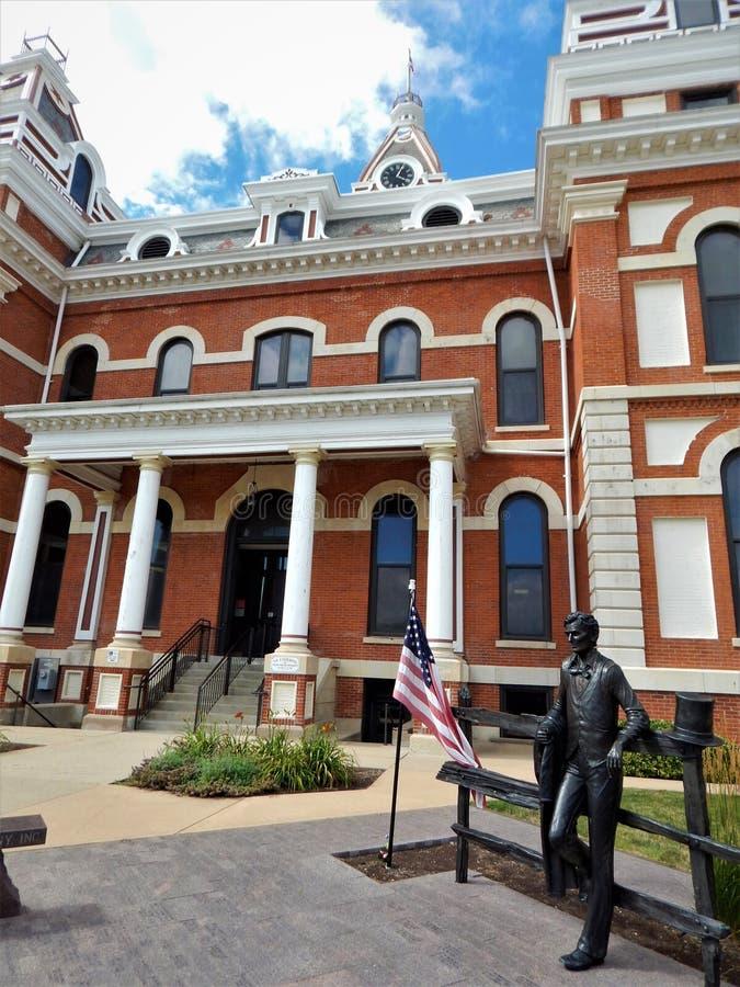 Het Gerechtsgebouw Pontiac Illinois van de Livingstonprovincie stock foto