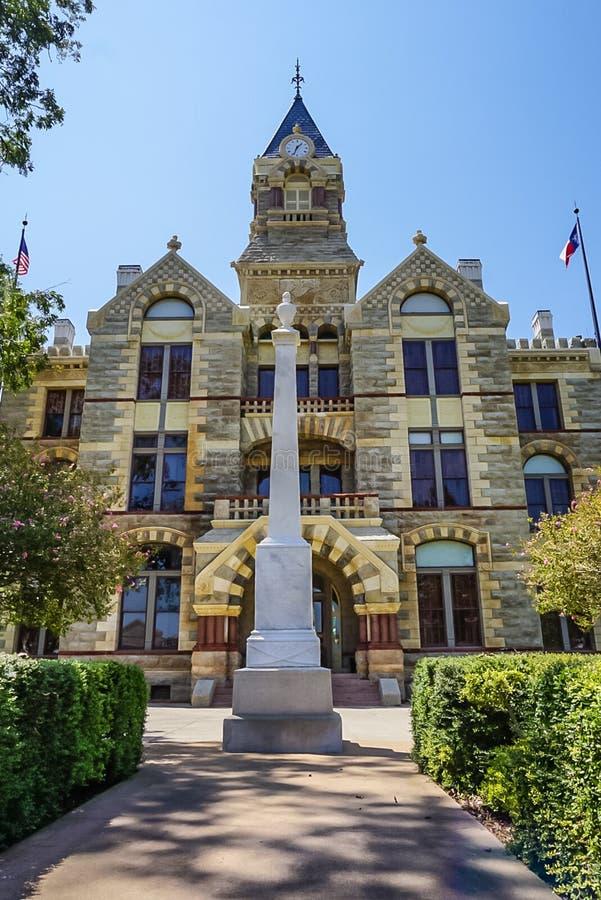 Het Gerechtsgebouw van de Fayetteprovincie in La-Landhuis, Texas royalty-vrije stock foto's