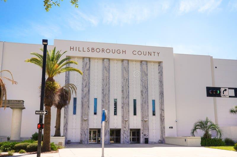 Het Gerechtsgebouw van de Hillsboroughprovincie, Tamper Van de binnenstad, Florida, Verenigde Staten stock foto