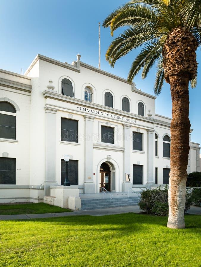 Het gerechtsgebouw van de provincie, Yuma, Arizona royalty-vrije stock fotografie