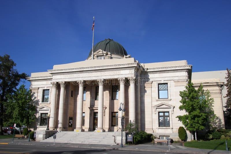 Het Gerechtsgebouw van de Washoeprovincie in Reno, Nevada stock afbeeldingen
