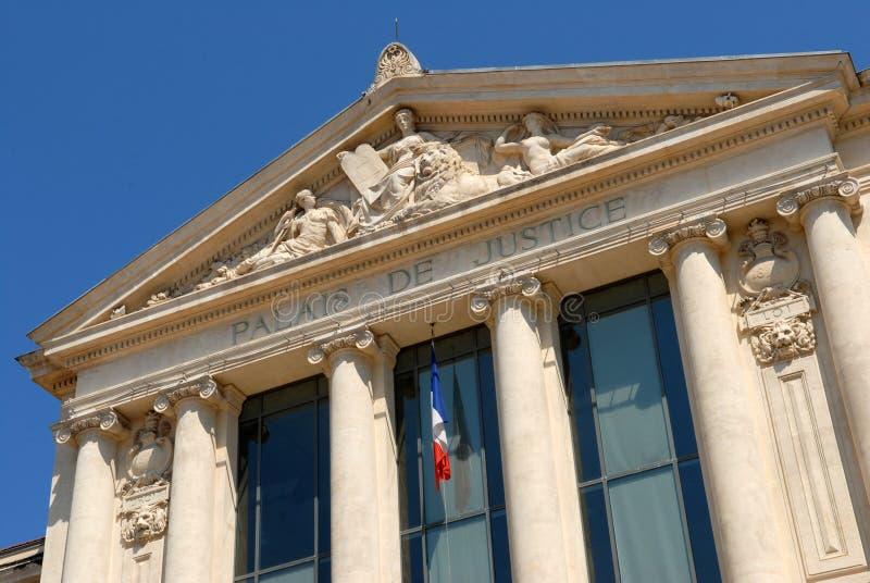 Het gerechtsgebouw van Nice in Frankrijk royalty-vrije stock foto