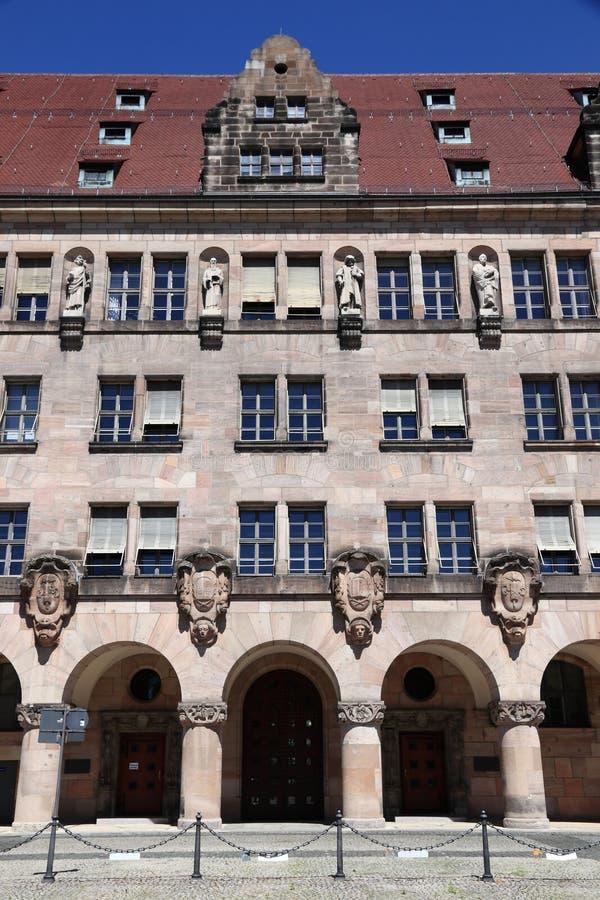 Het Gerechtsgebouw van Nuremberg stock afbeeldingen
