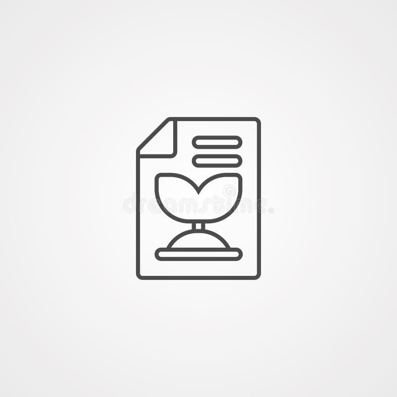 Het gerecycleerde document vectorsymbool van het pictogramteken stock illustratie