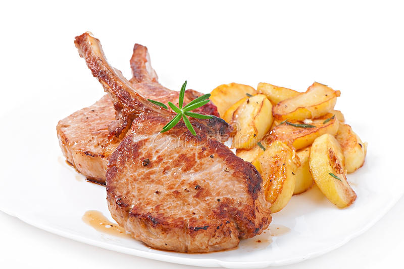 Het geroosterde lapje vlees van de varkensvleesfilet royalty-vrije stock afbeeldingen