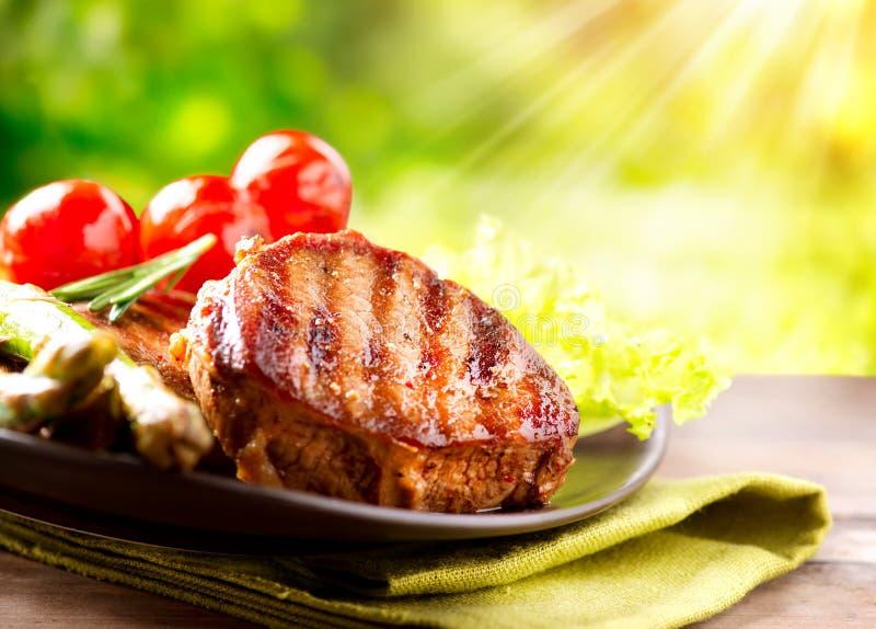 Het geroosterde Lapje vlees van het Rundvlees stock foto
