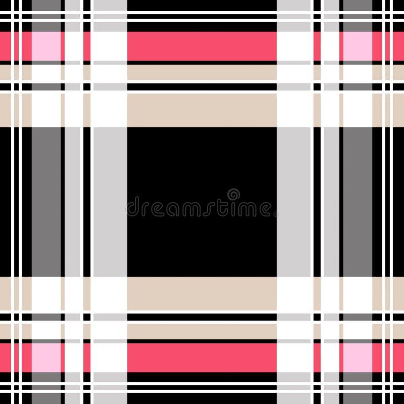 Het geruite patroon van de geruit Schots wollen stofplaid royalty-vrije illustratie