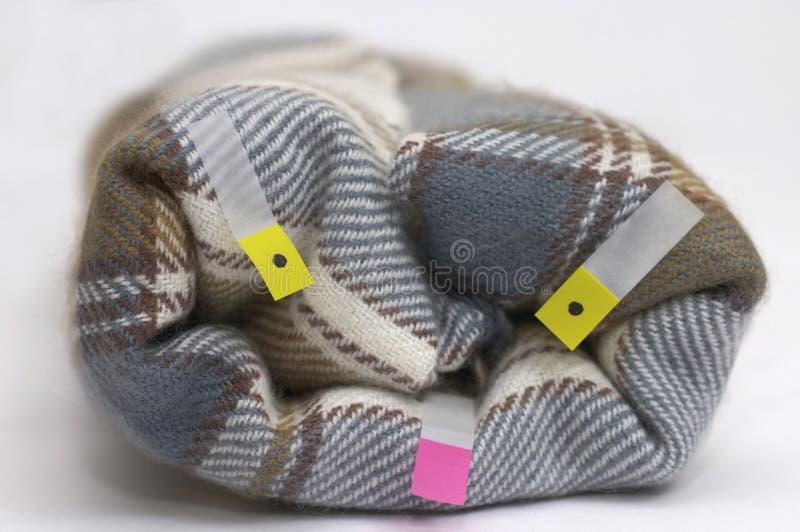 Het geruite Schotse wollen stof van de plaid stock afbeeldingen