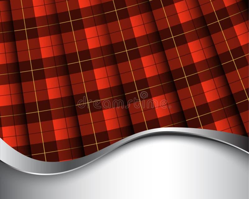 Het geruite Schotse wollen stof van Wallace royalty-vrije illustratie