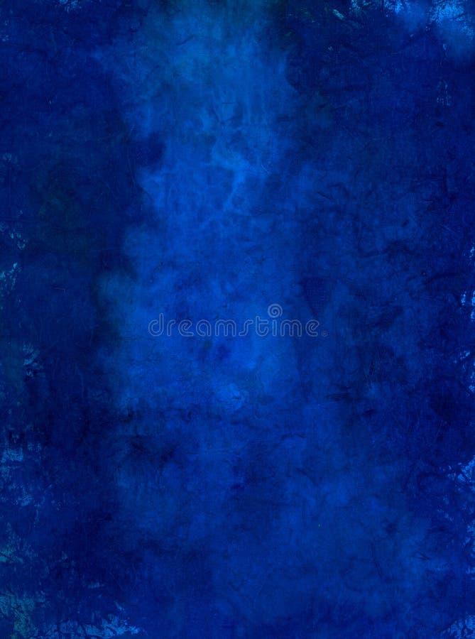 Het geschilderde Blauwe Document van de Kunst royalty-vrije illustratie