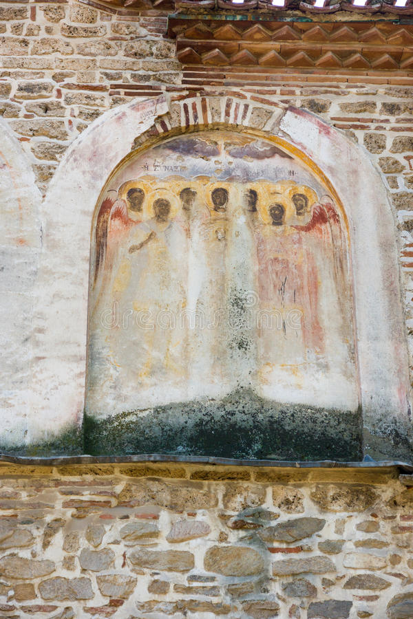 Het geschilderde klooster van metselwerkbachkovski royalty-vrije stock afbeelding