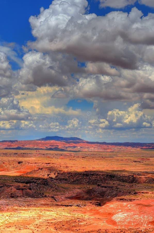 Het geschilderde Onweer van de Woestijn stock afbeelding