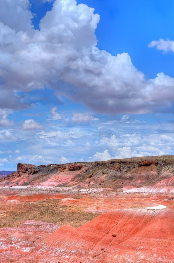 Het geschilderde Onweer van de Woestijn stock afbeeldingen