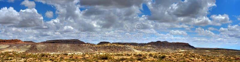 Het geschilderde Panorama van de Woestijn stock afbeeldingen