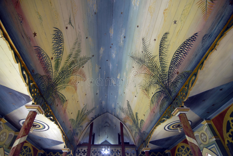 Het geschilderde Plafond van de Kerk royalty-vrije stock afbeeldingen