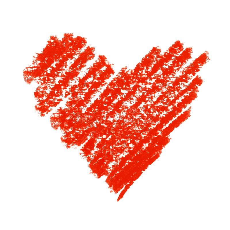 Het geschilderde Rode Symbool van het Hart. royalty-vrije illustratie
