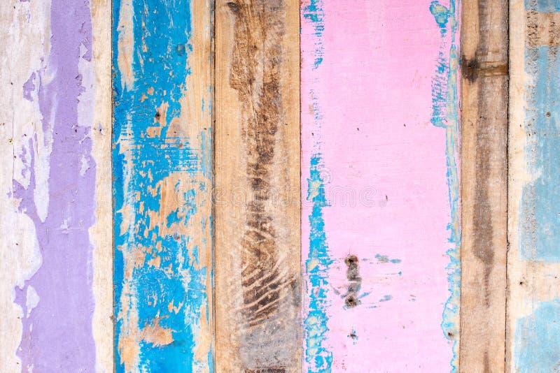 Het geschilderde rustieke inschepen op de muur, textuurmateriaal royalty-vrije stock foto