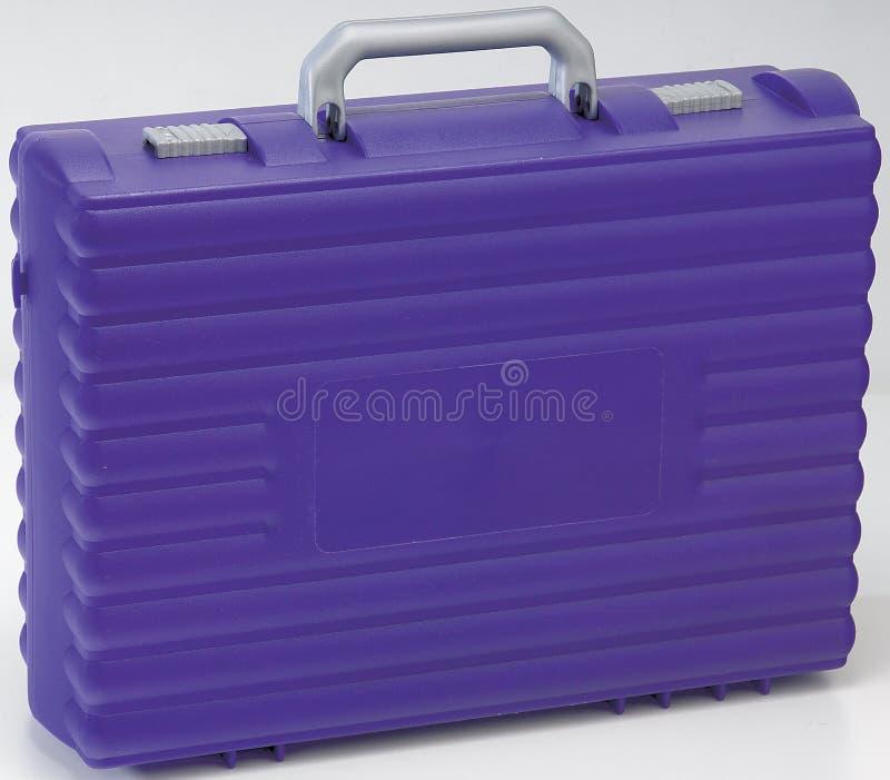 Het gesloten Purpere plastic geval van de School royalty-vrije stock afbeelding