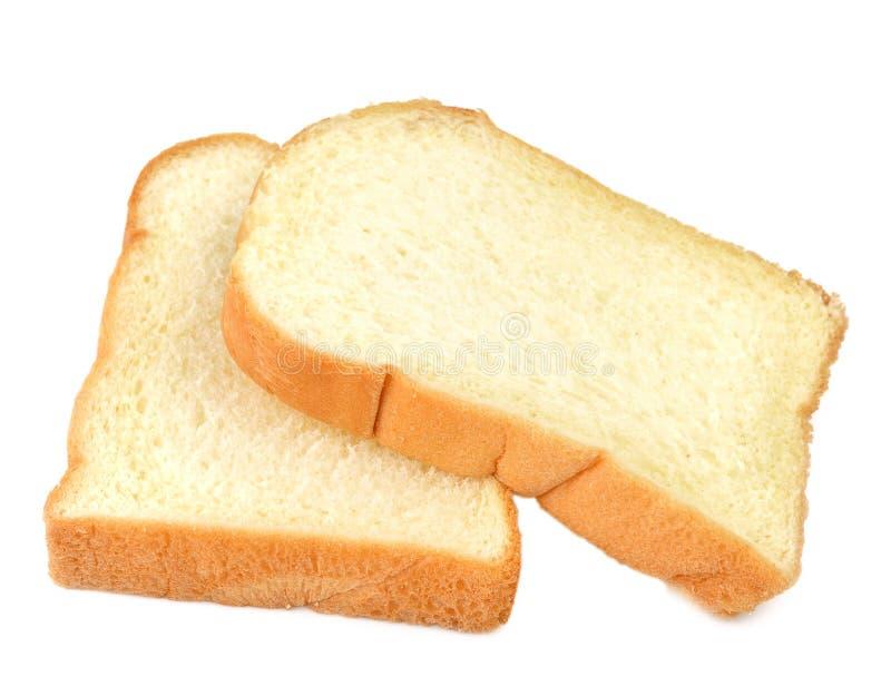 Het gesneden brood isoleerde witte achtergrond royalty-vrije stock foto
