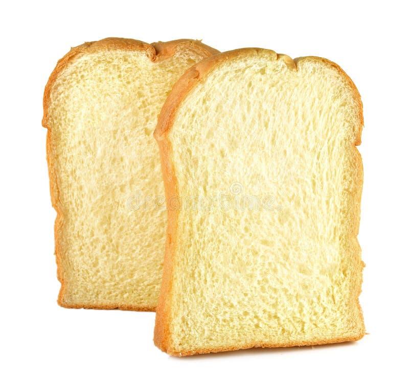 Het gesneden brood isoleerde witte achtergrond royalty-vrije stock afbeelding