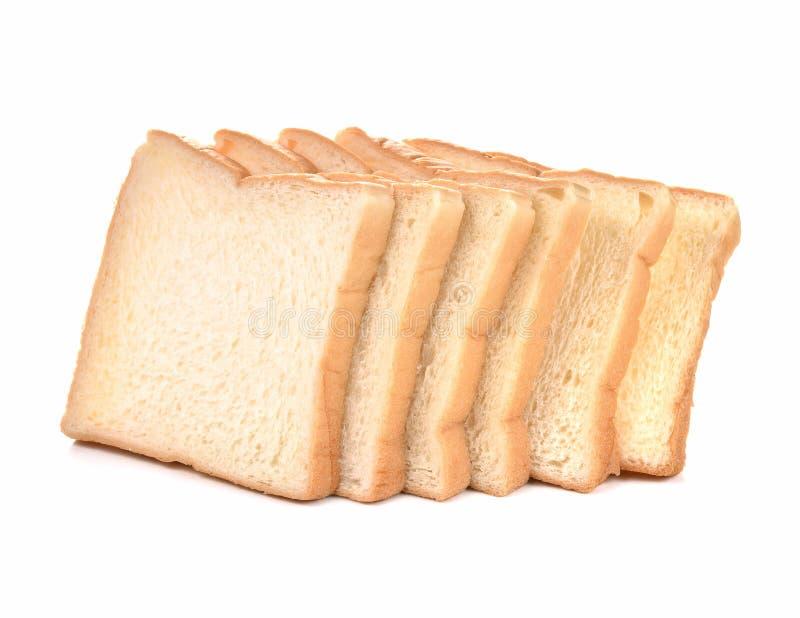Het gesneden brood isoleerde witte achtergrond stock afbeelding