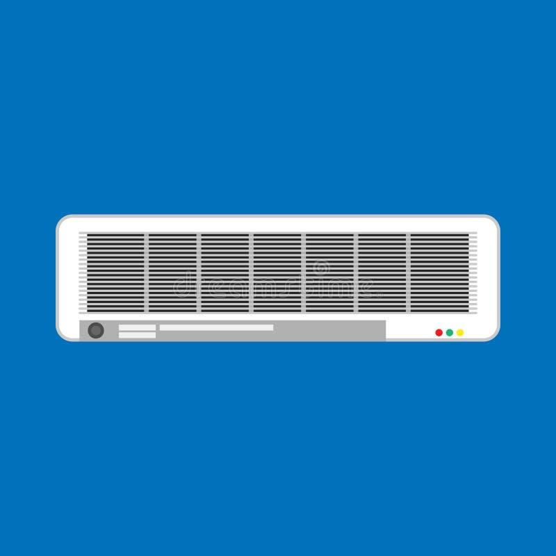 Het gespleten wit van de het klimaatcontrole van het airconditioner vectorpictogram Geïsoleerd de ventilatiemateriaal van het toe royalty-vrije illustratie