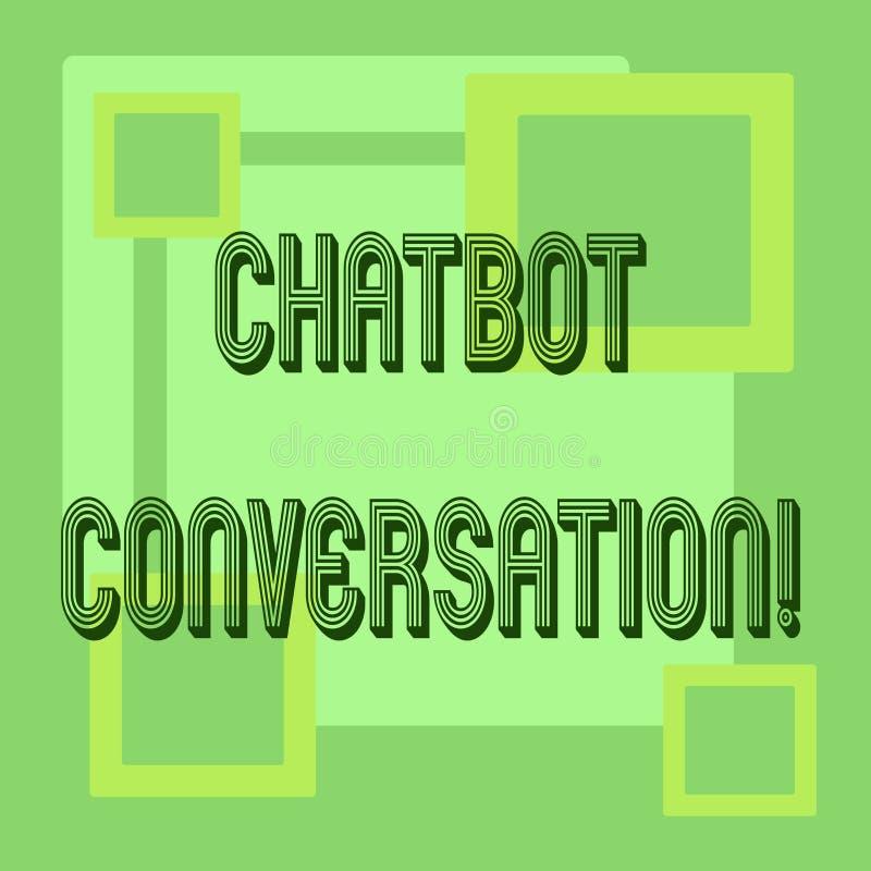 Het Gesprek van Chatbot van de handschrifttekst Concept betekenen die met virtuele hulpkunstmatige intelligentie babbelen royalty-vrije illustratie