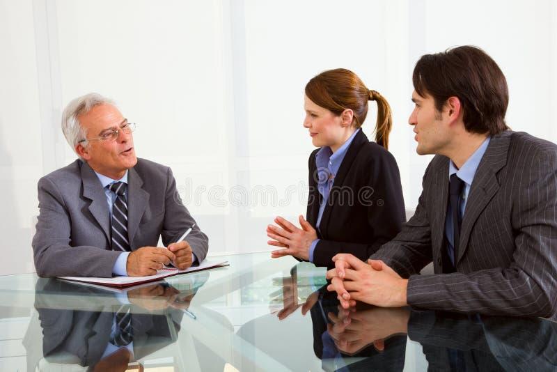 Het gesprek van de baan royalty-vrije stock afbeeldingen
