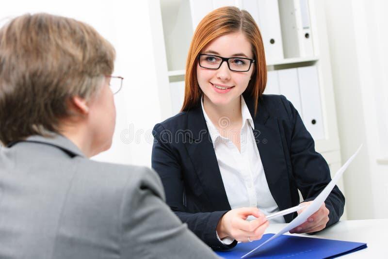 Het Gesprek van de baan stock foto