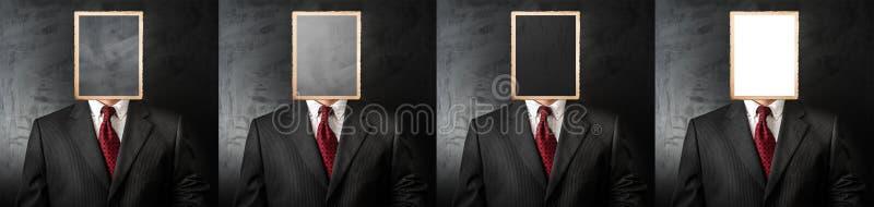 Het gesprek van de vier kandidatenbaan royalty-vrije stock fotografie