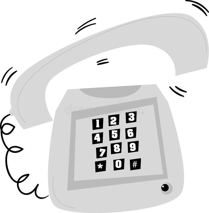 Het gestileerde oude telefoon bellen
