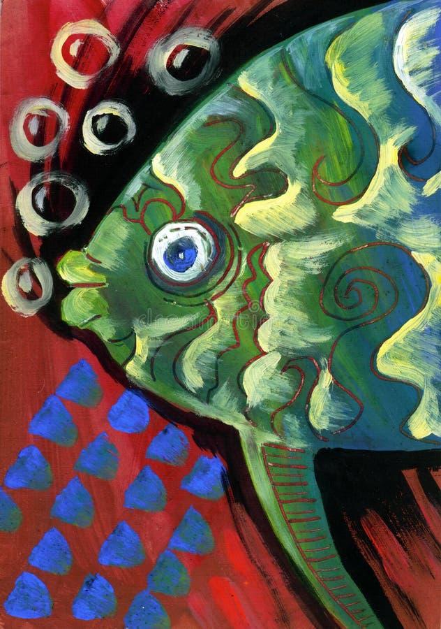 Download Het Gestileerde Vissen Schilderen Stock Illustratie - Illustratie bestaande uit ambacht, symbool: 39114164