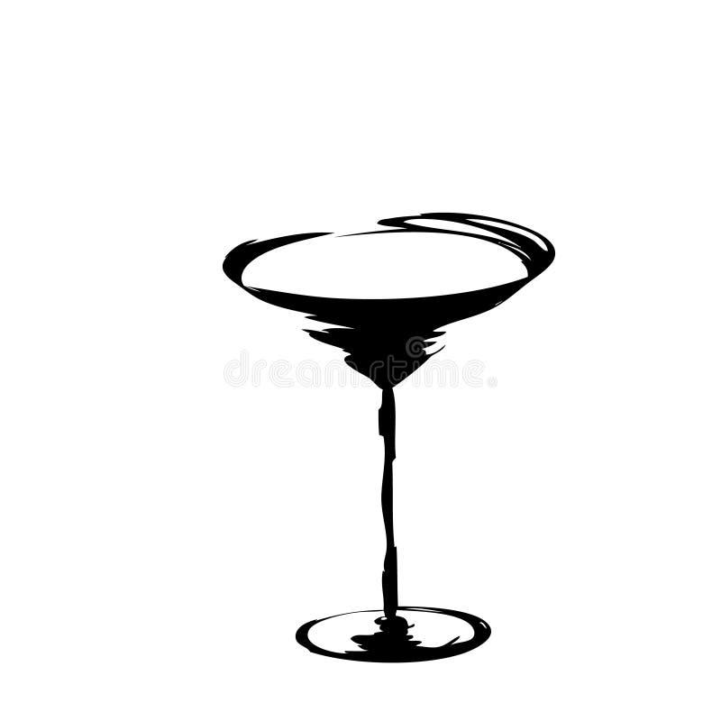 Het gestileerde wijnglas vector illustratie