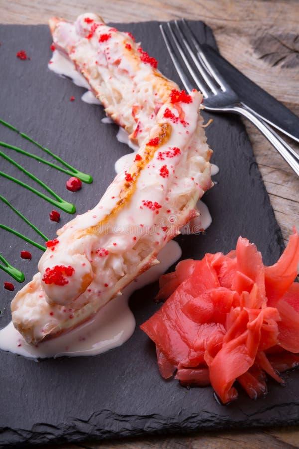 Het gestoomde vlees van het krabbeen royalty-vrije stock fotografie