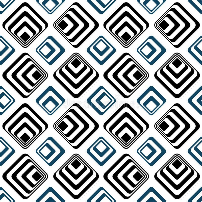 Het gestreepte patroon van vierkanten naadloze backgound royalty-vrije illustratie