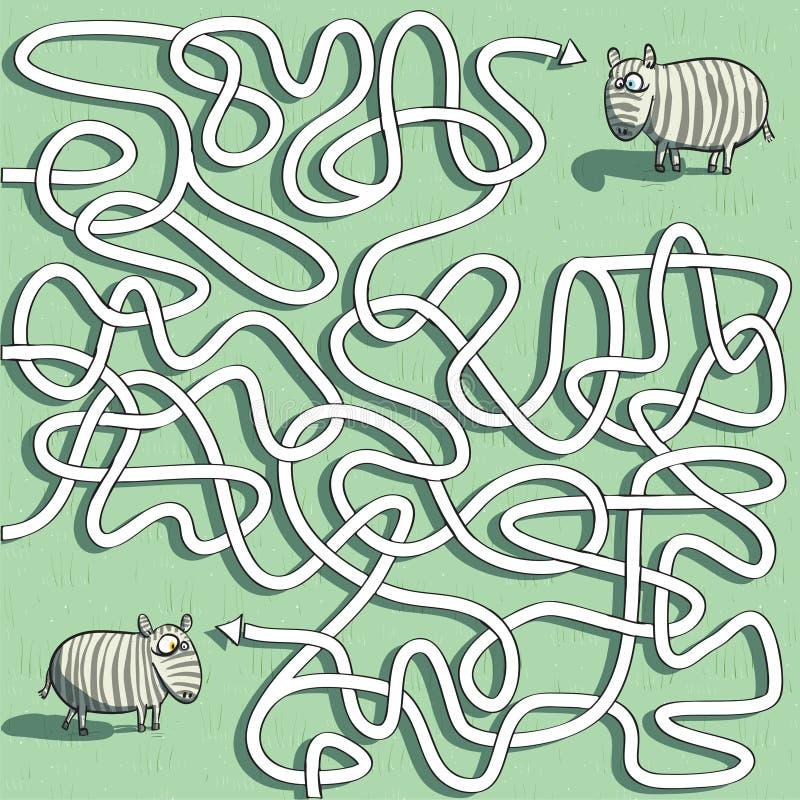 Het gestreepte Spel van het Labyrint royalty-vrije illustratie