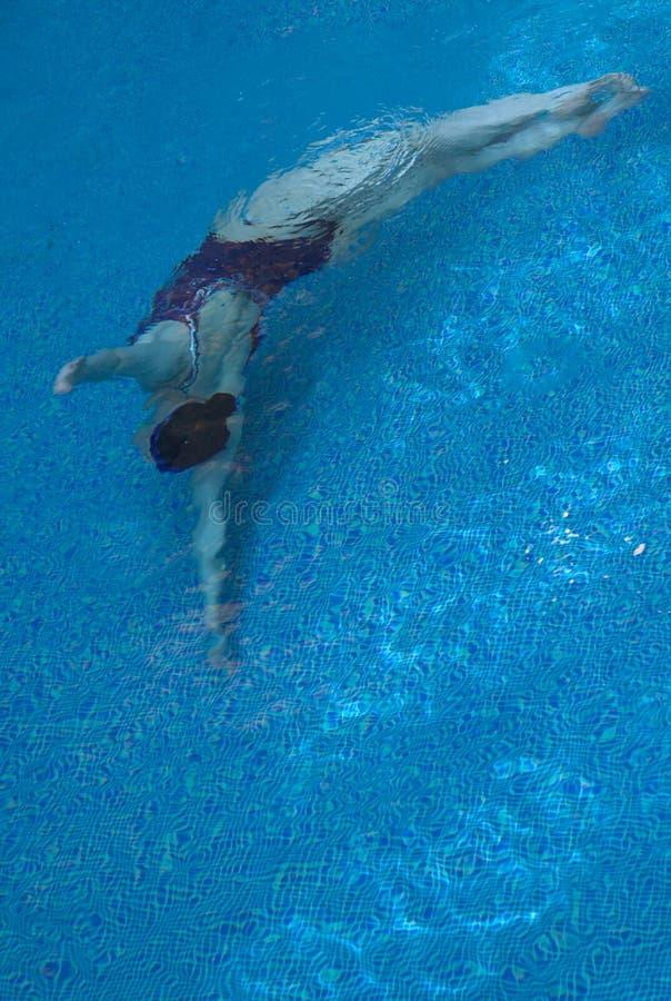 Het gesynchroniseerde zwemmen stock foto's