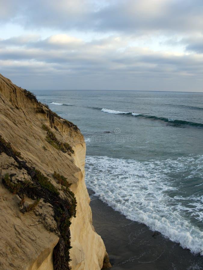 Het Getijde van de avond, Del Mar Shores, CA royalty-vrije stock fotografie