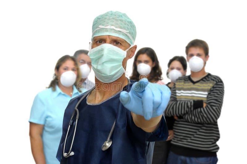 Het gevaar van de griep stock fotografie