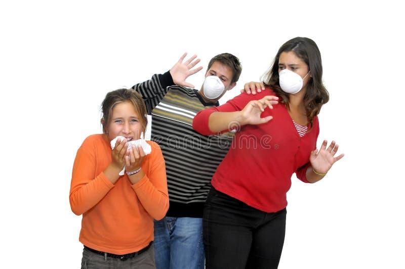 Het gevaar van de griep stock afbeelding