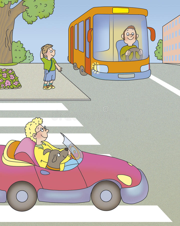 Het gevaar van de weg stock illustratie